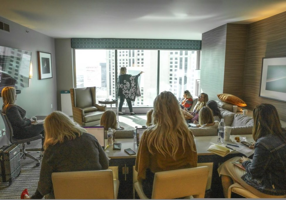 Gail Doby leading a VIP session in Las Vegas.  Photography by Emily Wilson Photography